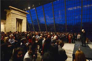 College Fund emeritus trustee Gail Bruce speaks to a packed house at the Metropolitan Museum of Art. Photo by Don Pollard
