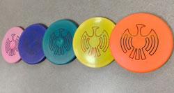 A set of discs with IAIA's logo.