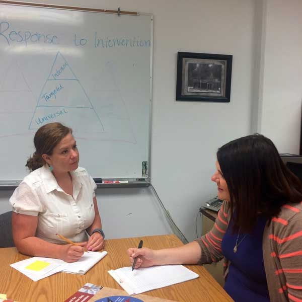 Graduate students in school psychology get hands-on training and work close with their advisors.