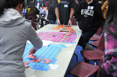 NAVAJO NATION ELEMENTARY STUDENTS ENGAGED IN A MATH GAME