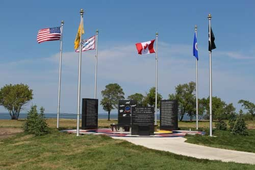 VETERANS MEMORIAL ON NEW RED LAKE NATION COLLEGE CAMPUS