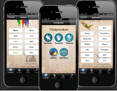 BLACKFEET LANGUAGE APP