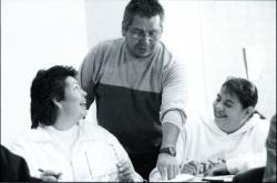 DAN JONES WITH STUDENTS