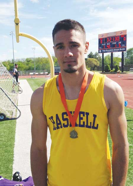 HASKELL INDIAN NATIONS UNIVERSITY STUDENT-ATHLETE HUNTER COLLINS