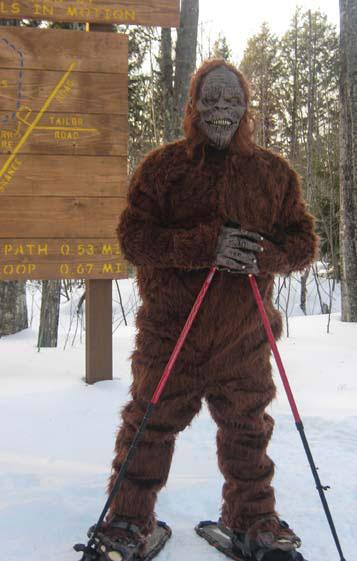 SASQUATCH HITS THE TRAILS NEAR KEWEENAW BAY OJIBWA COMMUNITY COLLEGE