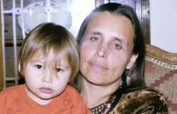WINONA LADUKE WITH SON