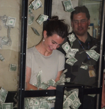 RACHAEL MARCHBANKS IN MONEY BOOTH