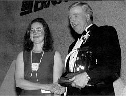 MICHELE LANSDOWNE RECEIVING AWARD