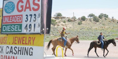 RIDING HORSES ON THE NAVAJO RESERVATION