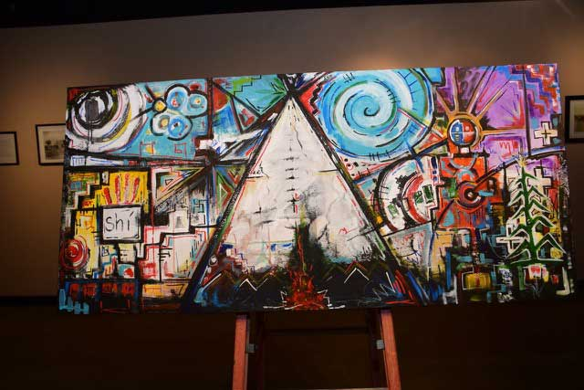 navajo artist makes an impact at diné college