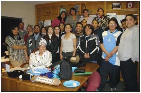 STUDENTS AT AIHEC HEADQUARTERS