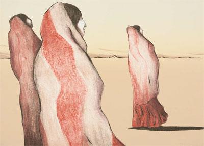 WAITING WOMEN BY R.C. GORMAN